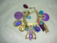 Fabulous One Off Designer Chunky Charm Bracelet Custom Made 1 of 1!