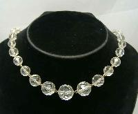 £40.00 - Art Deco Gold Wire Crystal Glass Bead Choker Necklace